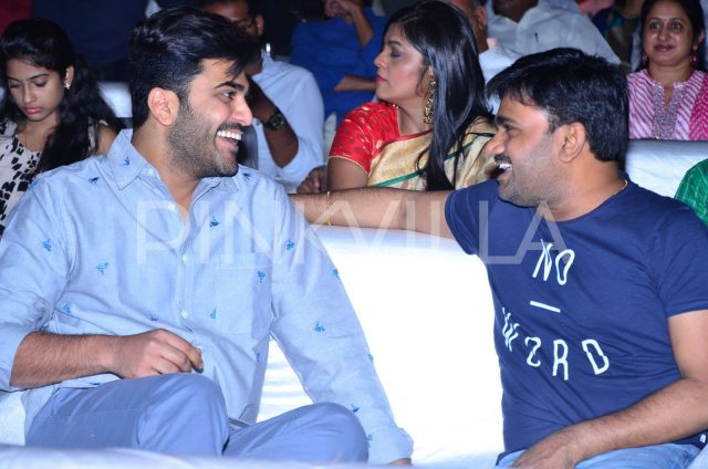 Sharwanand and Director Maruthi at Venkatapuram Audio Launch