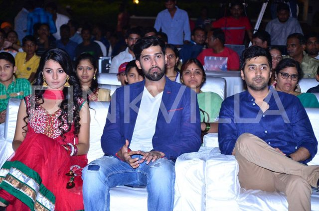 Mahima Makwana, Rahul and Rahul Ravindran watch the performances