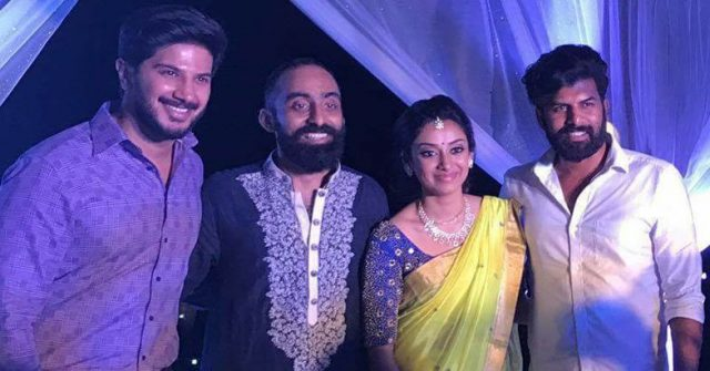 Dulquer Salman with Gautami Nair & Sreenath Rajendran