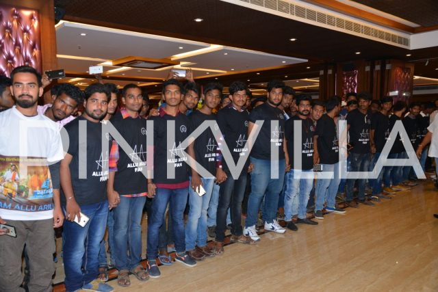 Fans of Allu Arjun at the event