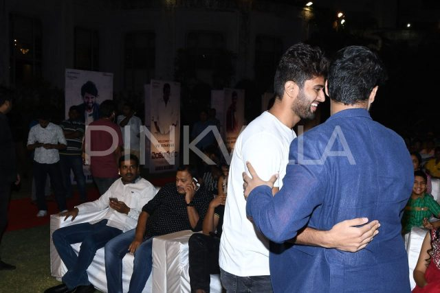 Vijay Deverakonda arrives at the audio launch of Venkatapuram