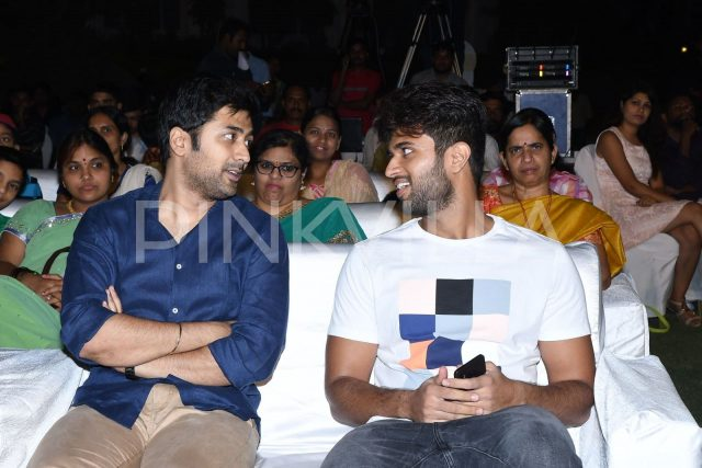 Vijay Deverakonda and Rahul Ravindran in a discussion