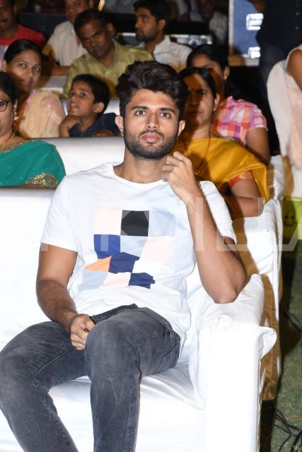 Vijay Deverakonda watches the performances