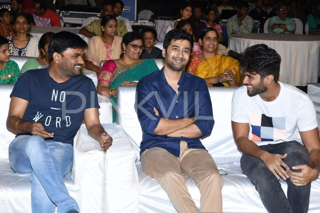 Director Maruthi, Rahul Ravindran and Vijay Deverakonda share a lighter moment
