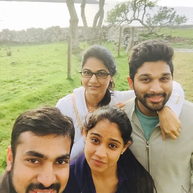 Allu Arjun with his wife Sneha Reddy and cousins