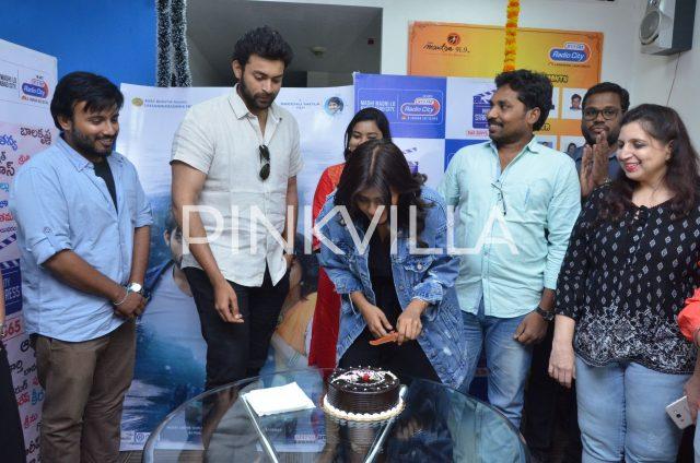 Varun Tej and Hebah Patel cut a cake