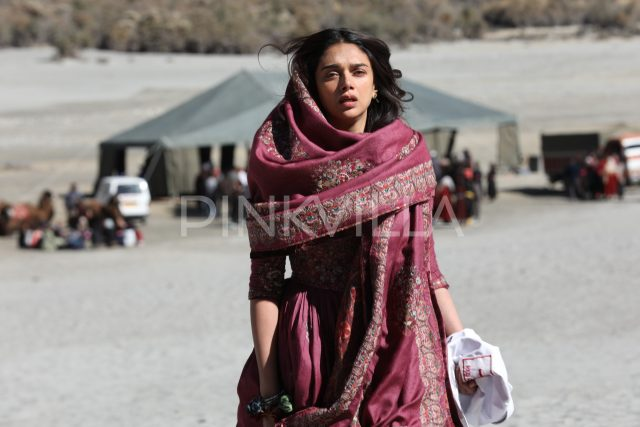 Aditi Rao Hydari from one of the scenes in Kaatru Veliyidai