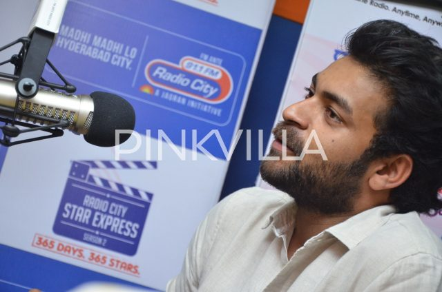 Varun Tej speaking to the listeners of the show