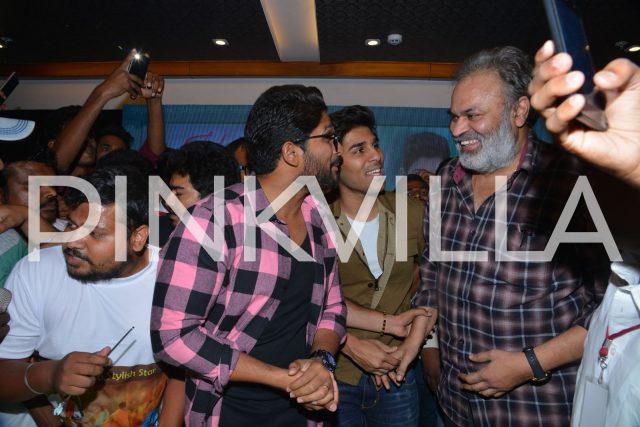 Allu Arjun and Nagu Babu sharing a fun filled moment