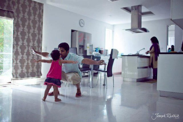 Allu Arjun loves kids