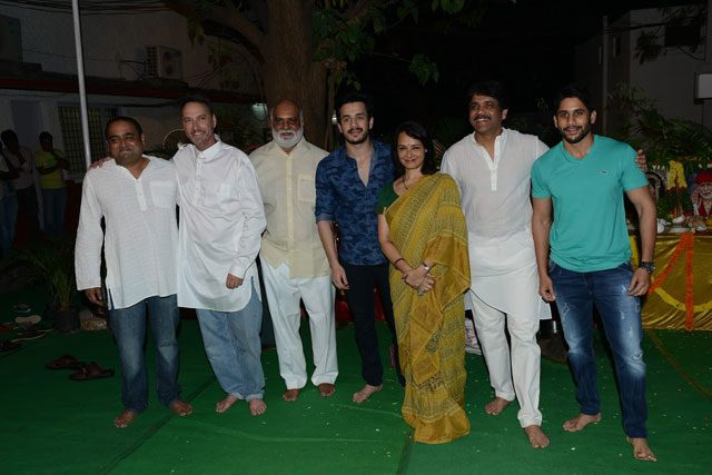 The Akkineni family with K. Raghavendra Rao