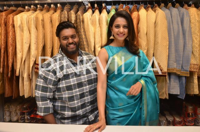 Rakul Preet with the store owner