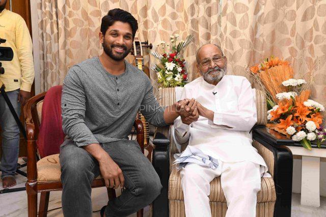 Allu Arjun meets K. Vishwanath