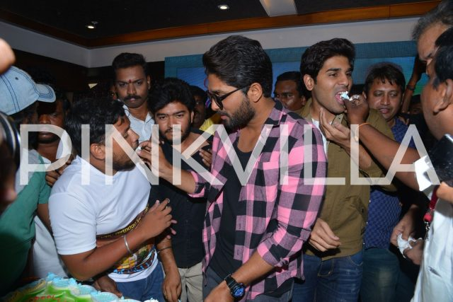 Allu Arjun with a fan