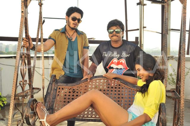 Naga Anvesh, Sapthagiri and Hebah Patel in Angel