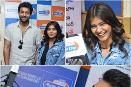 Varun Tej and Hebah Patel during promotions of Mister