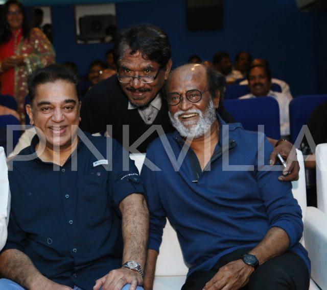 Kamal Haasan and Rajinikanth are all smiles