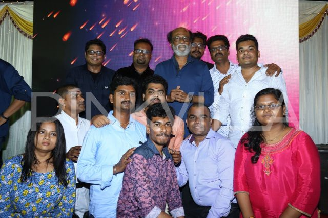Super Star Rajinikanth with the faculty at BRIIC