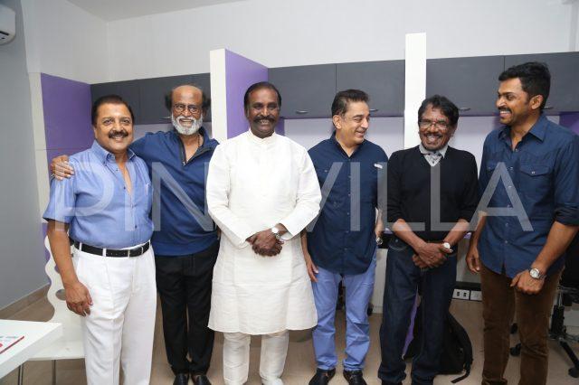 Rajinikanth, Kamal Haasan, Vairamuthu and Bharathiraja