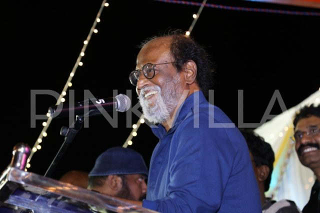 Super Star Rajinikanth speaking few words at the inauguration