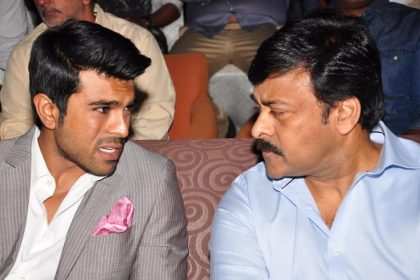Chiranjevi and Ram Charan