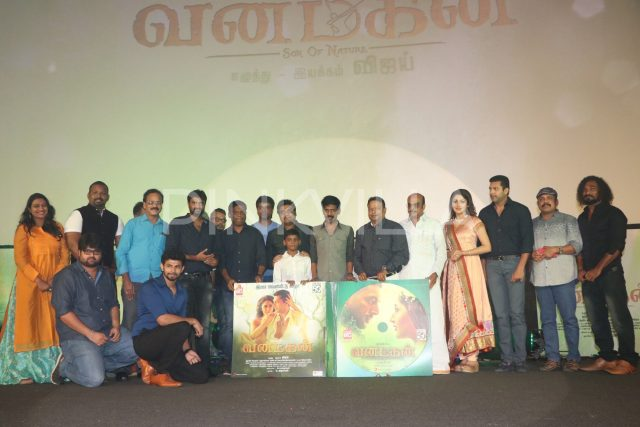 The cast and crew of Vanamagan