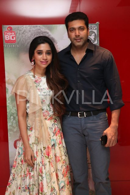Actor Jayam Ravi with wife Arti