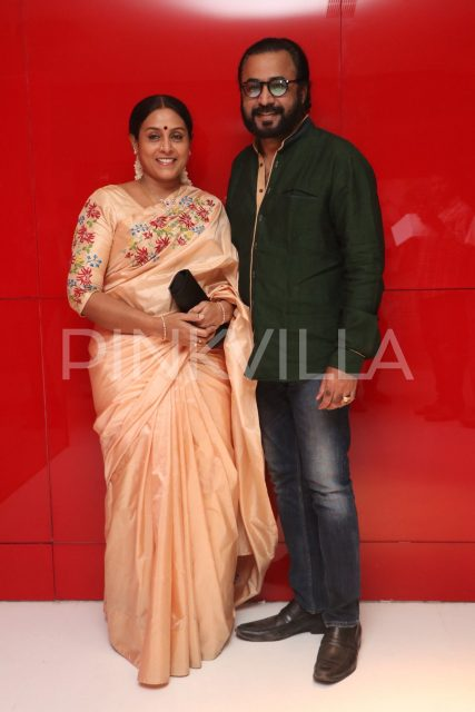 Actress Saranya with husband Ponvannan