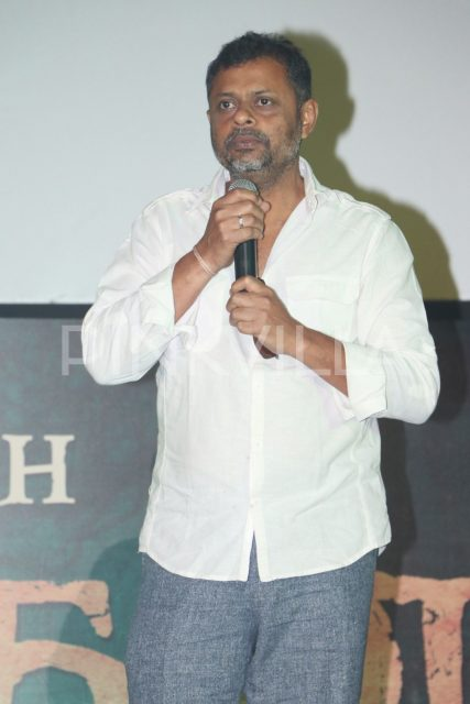 Cinematographer Thiru speaking at the event