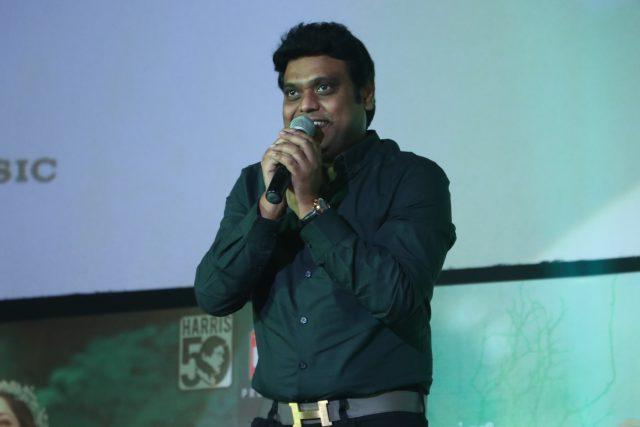 Harris Jayaraj speaking at the audio launch of Vanamagan