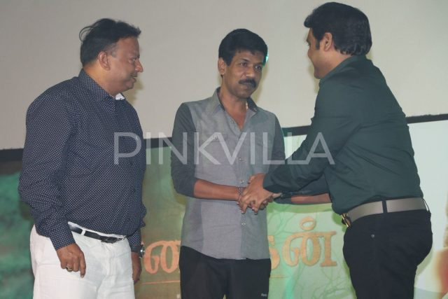 Director Bala and Harris Jayaraj greet each other