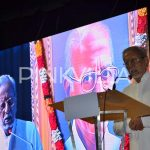 Charu Haasan speaking at the event