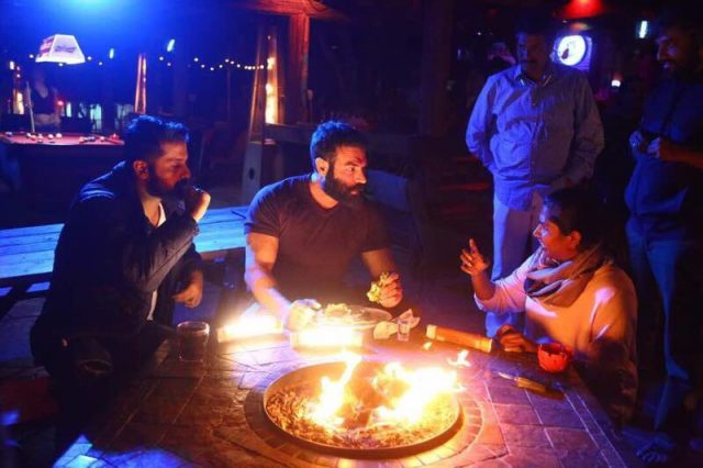 Dan Bilzerian with Nithiin