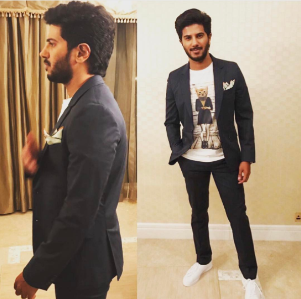 Dulquer Salmaan in a semi-formal look