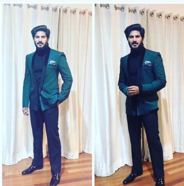 Dulquer Salmaan in a turtle-neck tee