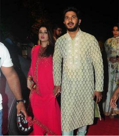 Dulquer Salman and Amal Sufiya