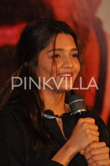 Ritika Singh speaking at the event