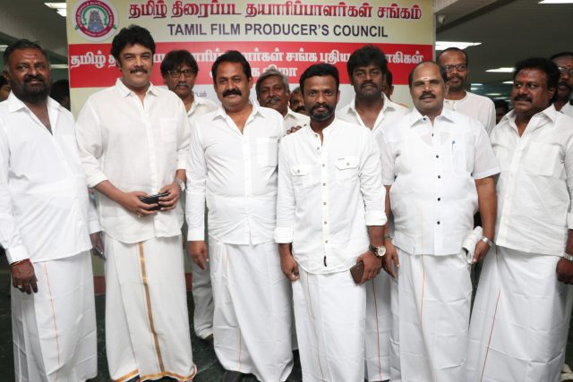 Sundar C with the members of the council