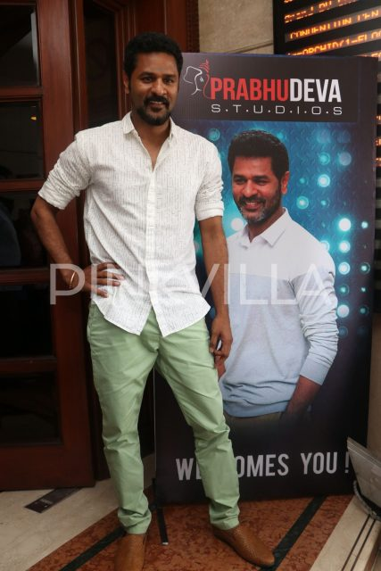 Prabhu Deva at the launch of Karuppu Raja Vellai Raja
