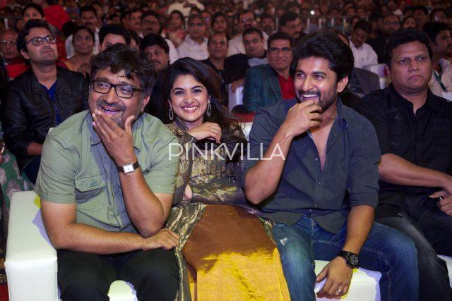 Mohan Krishna Indraganti, Nivetha Thomas, Nani and composer Mani Sharma