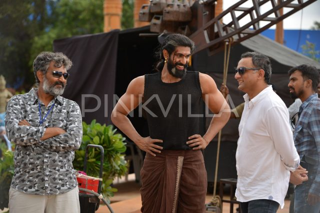 Rajamouli, Rana Daggubati and Shobu Yarlagadda share a fun moment