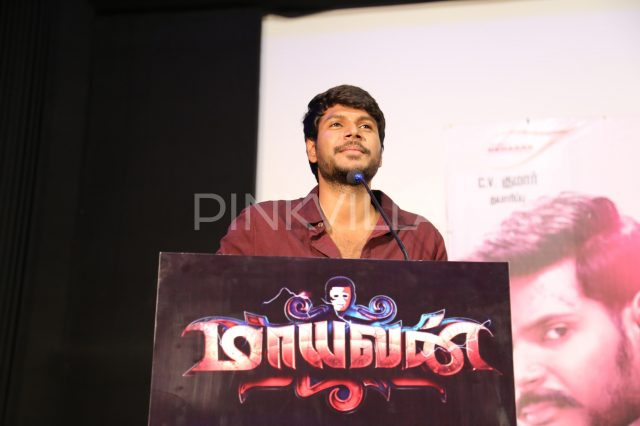 Sundeep Kishan speaking at the event
