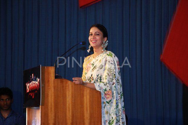 Lavanya Tripathi saying a few words