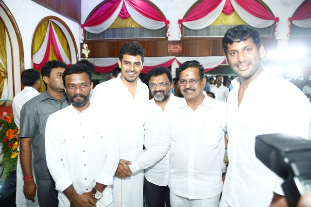 Actor Vishal and others at the meet