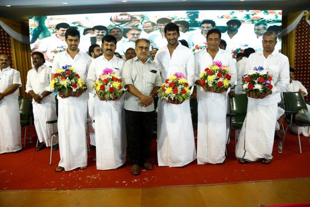 Vishal, Prakash Raj, Gautham Menon and others at the event