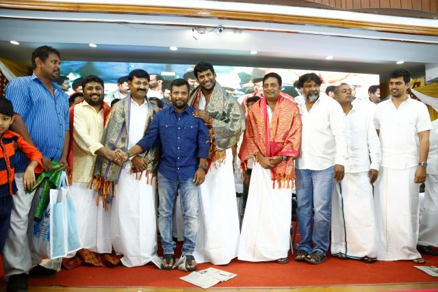 Vishal with Prakash Raj and others at the event