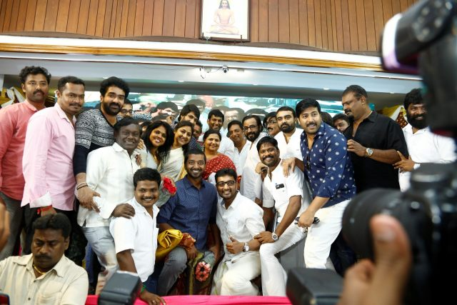 Vishal with Prakash Raj, Rohini, Gautham Menon and others at the event