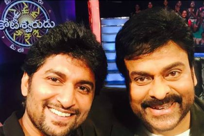Nani with Chiranjeevi