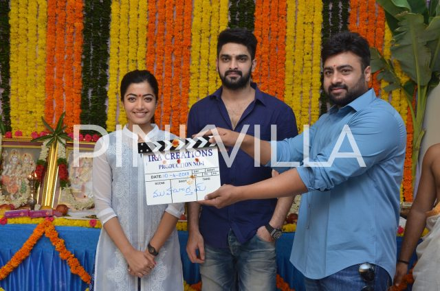 Naara Rohith clapping the first scene of the film
