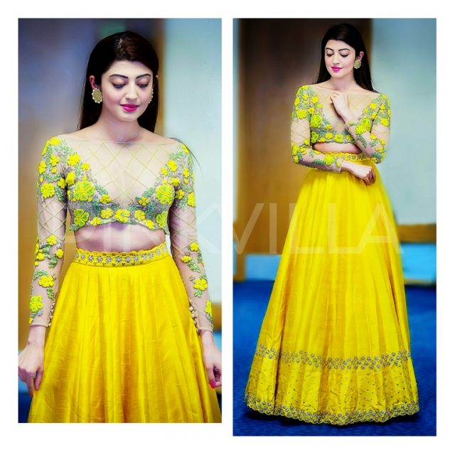 Pranitha Subhash in a Divya Reddy outfit